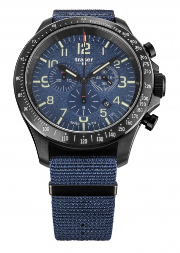 P67 Officer Pro Chronograph Blue (Textilband)
