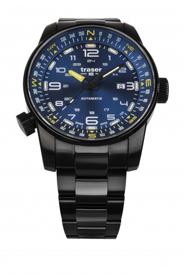 P68 Pathfinder Automatic Blue (Stahlband PVD)