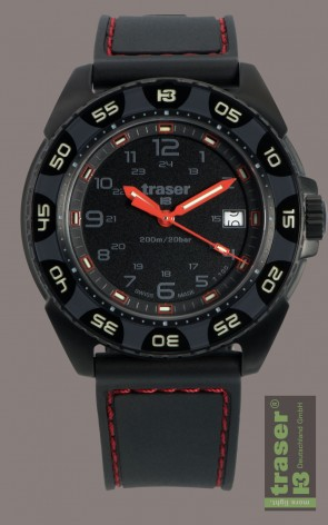 Red Alert T100 (Rubberband mit roter Naht)