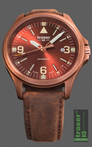 P67 Officer Pro Automatic Bronze Brown, Lederband