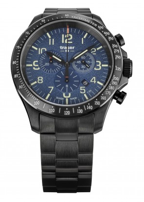 P67 Officer Pro Chronograph Blue (Stahlband)