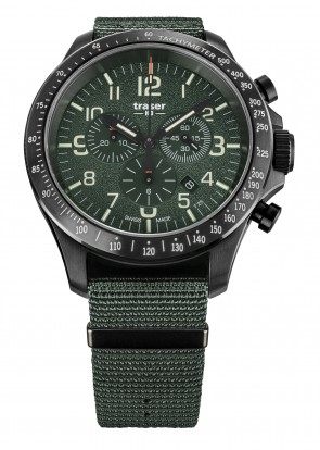 P67 Officer Pro Chronograph Green (Textilband)