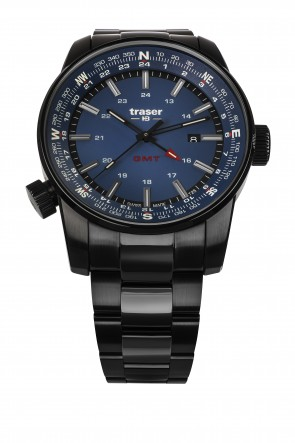 P68 Pathfinder GMT Blue (Stahlband PVD))