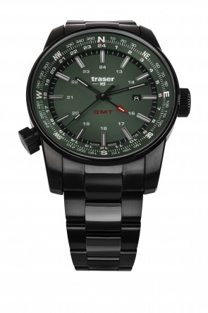 P68 Pathfinder GMT Green (Stahlband PVD)